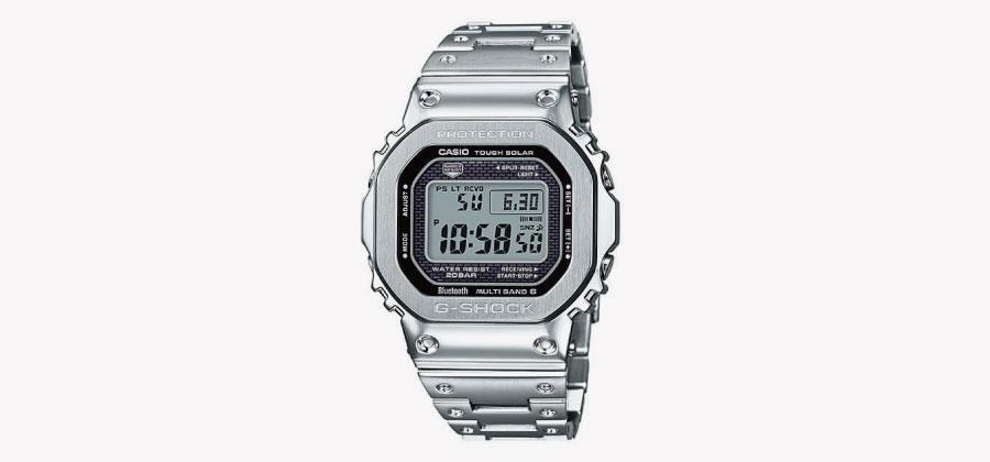 G-SHOCK GMW-B5000メタルシリーズシルバー時計画像