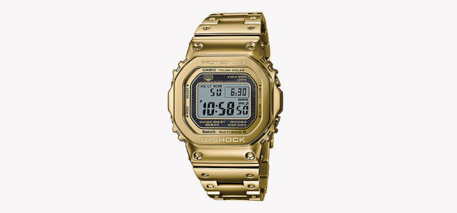 G-SHOCK GMW-B5000メタルシリーズゴールド時計画像
