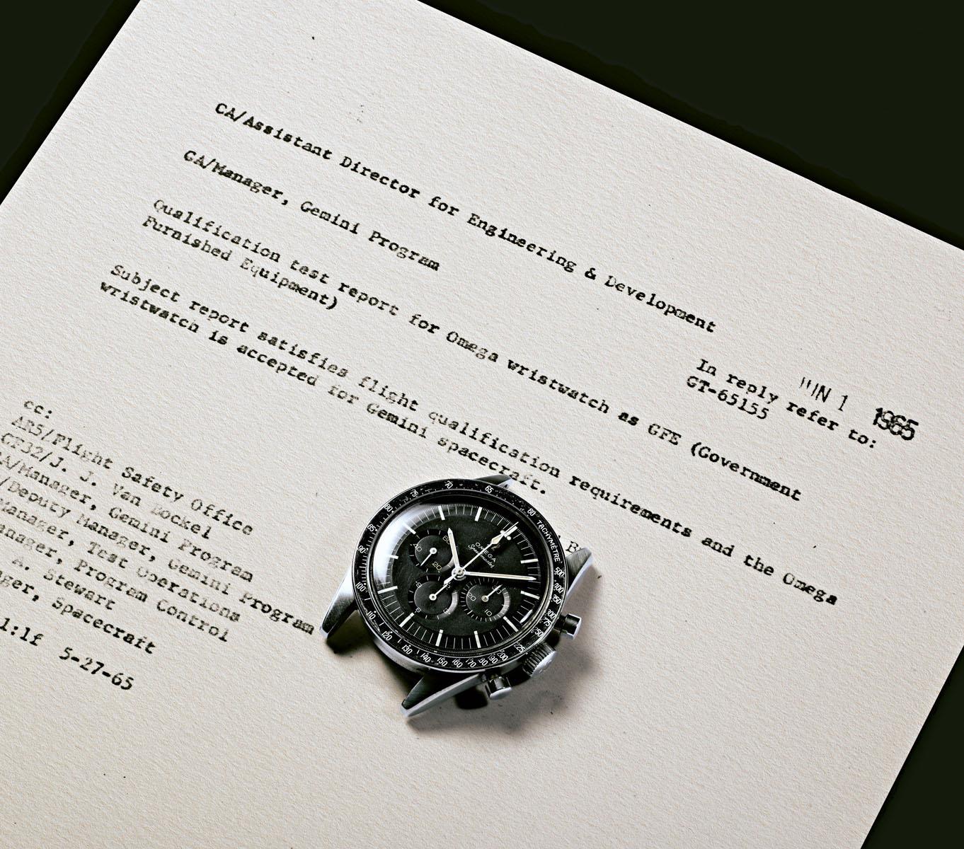 NASAの公式腕時計に認定画像