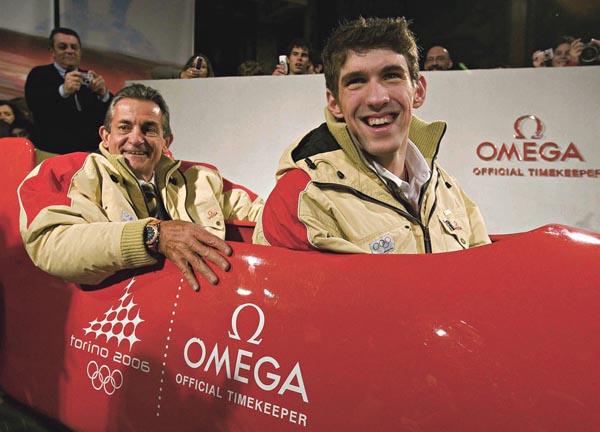 トリノオリンピックで再びオフィシャルタイムキーパーに採用画像